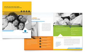 Home Security Systems - Microsoft Publisher Brochure Template