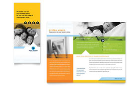 Home Security Systems - Graphic Design Brochure Template