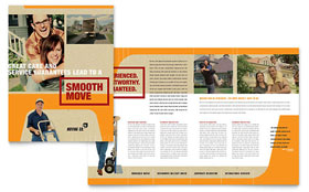 Movers & Moving Company - Brochure Template Design Sample