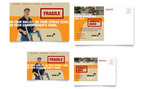 Movers & Moving Company - Postcard Template Design Sample