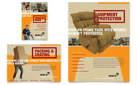 Movers & Moving Company - Print Ad Sample Template