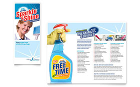 House Cleaning & Housekeeping - Brochure Template