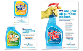 House Cleaning & Housekeeping - Flyer & Ad Template Design Sample