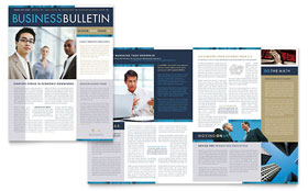 Small Business Consulting - Newsletter Template Design Sample