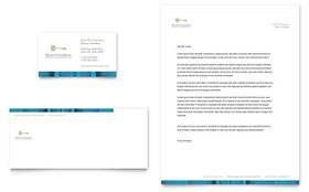 Small Business Consulting - Business Card & Letterhead Template