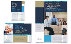 Small Business Consulting - Print Ad Template