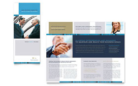 Small Business Consulting - Tri Fold Brochure Template Design Sample