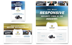 Security Guard - Print Ad Template