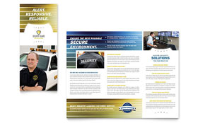 Security Guard - Tri Fold Brochure Template