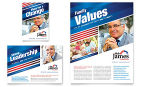 Political Campaign - Flyer & Ad Template Design Sample