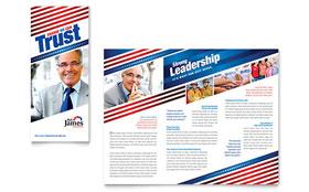 Political Campaign - Tri Fold Brochure Template