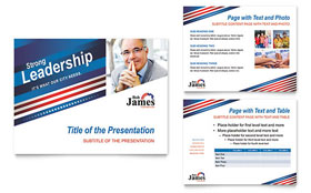 Political Campaign - PowerPoint Presentation Template Design Sample