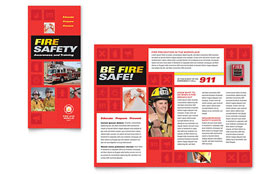 Fire Safety - Graphic Design Brochure Template