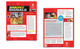Fire Safety - Newsletter Template Design Sample