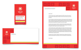 Fire Safety - Business Card & Letterhead Template