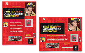 Fire Safety - Poster Template Design Sample