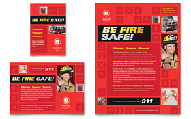 Fire Safety - Flyer & Ad Template Design Sample