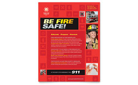 Fire Safety - Flyer Template