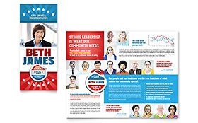 Political Candidate - Adobe InDesign Brochure Template