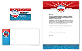 Political Candidate - Business Card Sample Template