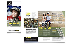 Military - Business Marketing Brochure Template