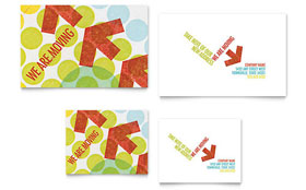 Business Moving - Note Card Sample Template