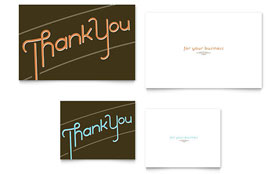 Thank You - Note Card Template Design Sample