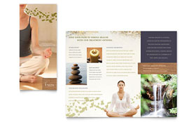 Naturopathic Medicine - Brochure Template Design Sample