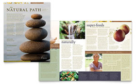 Naturopathic Medicine - Newsletter Template Design Sample
