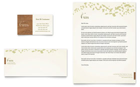 Naturopathic Medicine - Business Card & Letterhead Template Design Sample