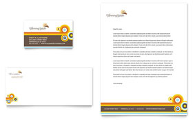 Tanning Salon - Business Card & Letterhead Template