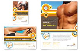 Tanning Salon - Flyer & Ad Template Design Sample