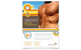 Tanning Salon - Flyer Template Design Sample