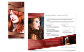 Hair Stylist & Salon - Microsoft Word Brochure Template