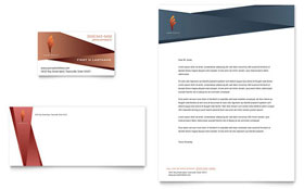 Hair Stylist & Salon - Business Card & Letterhead Template Design Sample