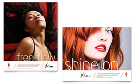 Hair Stylist & Salon - Poster Template Design Sample