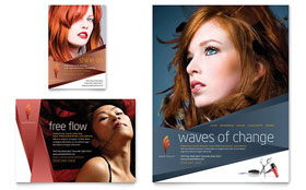 Hair Stylist & Salon - Flyer & Ad Template Design Sample