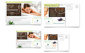 Day Spa - Postcard Template Design Sample