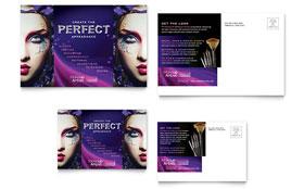 Makeup Artist - Postcard Sample Template