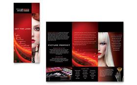 Makeup Artist - Tri Fold Brochure Template