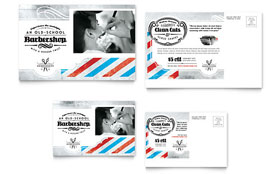 Barbershop - Postcard Template Design Sample