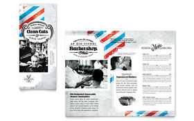 Barbershop - Apple iWork Pages Tri Fold Brochure Template