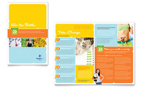 Weight Loss Clinic - Adobe InDesign Brochure