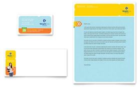 Weight Loss Clinic - Business Card & Letterhead Template Design Sample