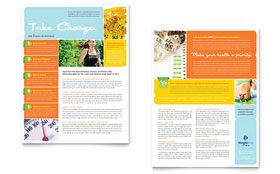 Weight Loss Clinic - Datasheet Template Design Sample