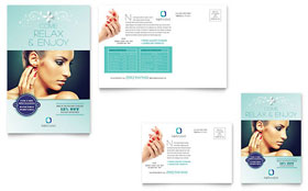Nail Technician - Postcard Template Design Sample