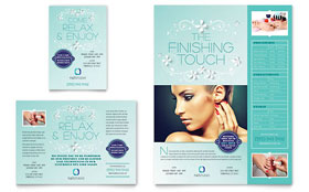 Nail Technician - Print Ad Template Design Sample