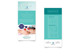 Nail Technician - Rack Card Template
