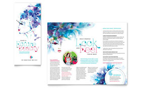 Cosmetology - Apple iWork Pages Brochure