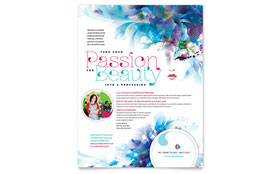 Cosmetology - Flyer Sample Template